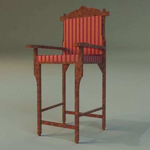 Wooden chair in royal style