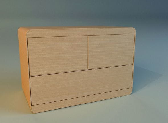 Commode modern wooden - 3DOcean Item for Sale