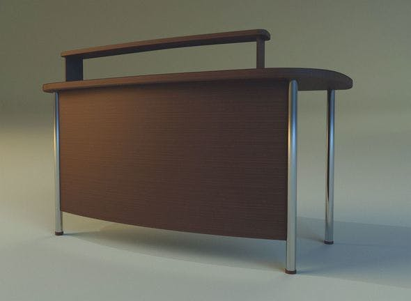 Computer desk - 3DOcean Item for Sale