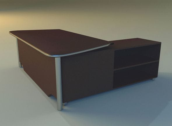 Computer table big - 3DOcean Item for Sale