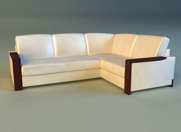 Leather corner sofa - 3DOcean Item for Sale