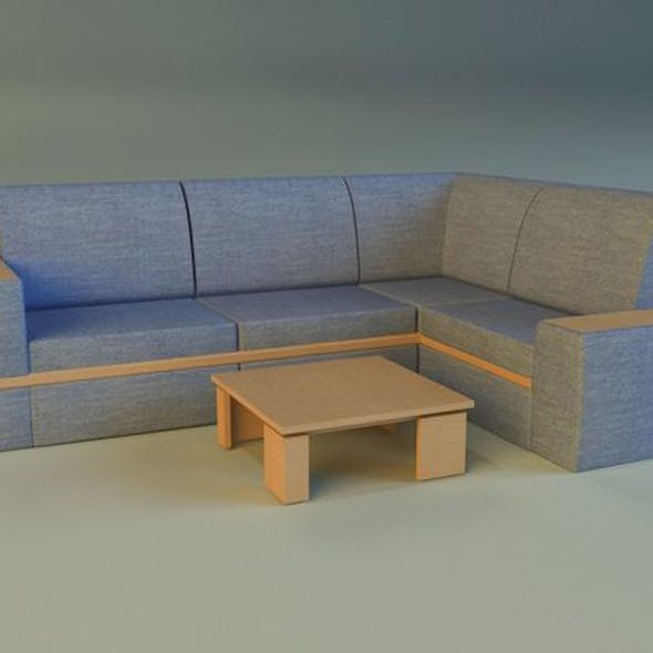 Cloth corner sofa