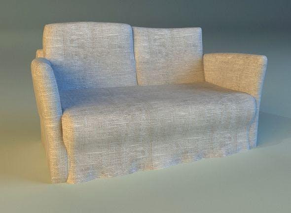 Sofa  white cloth - 3DOcean Item for Sale