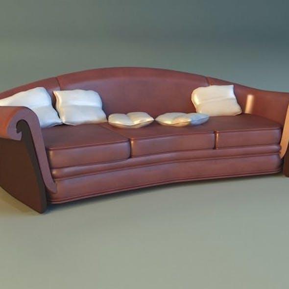 Sofa luxury leather classic