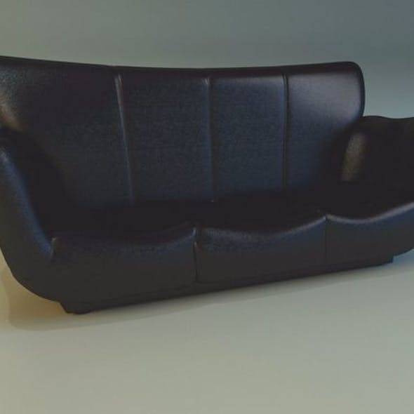 Sofa luxury leather black