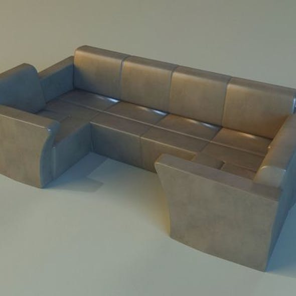 Sofa luxury leather for cafe