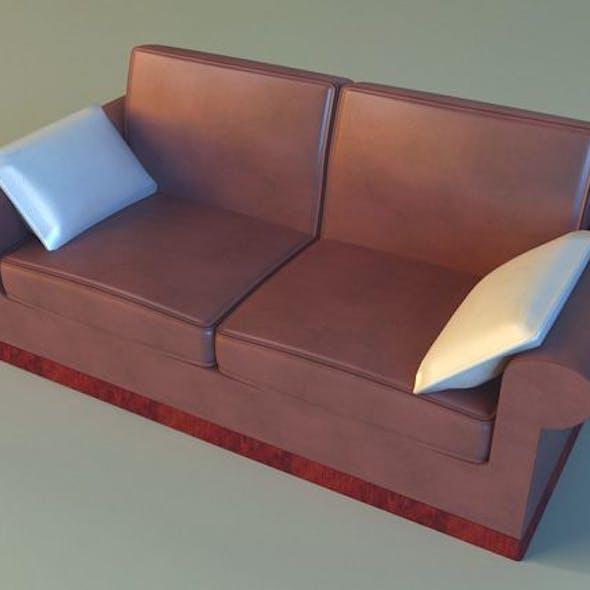 Sofa leather pillows