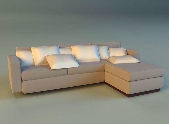 Cloth corner sofa simple - 3DOcean Item for Sale