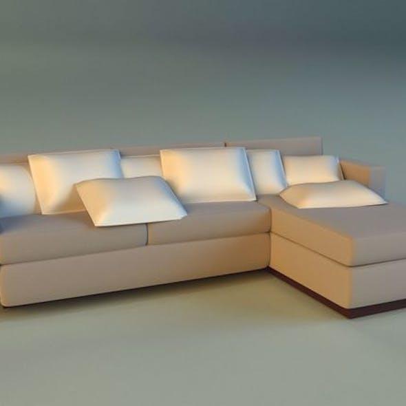 Cloth corner sofa simple