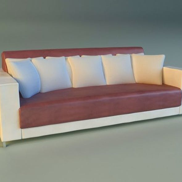 Sofa leather pillows long