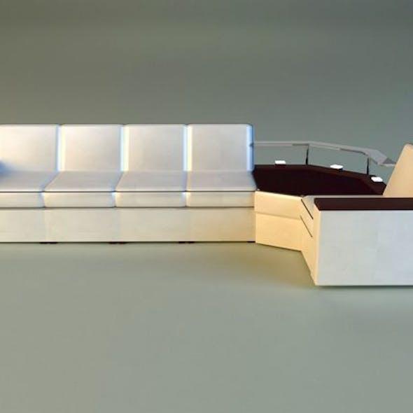 Corner modern sofa