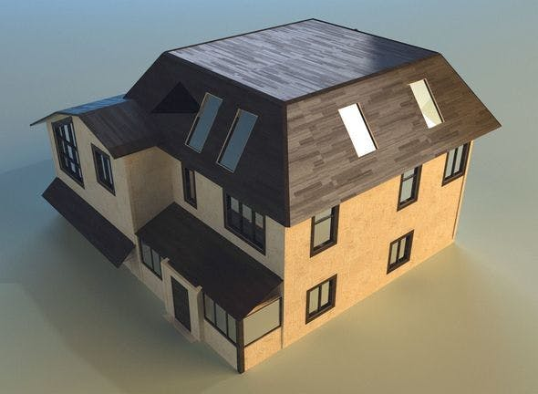 House lowpoly 2 - 3DOcean Item for Sale
