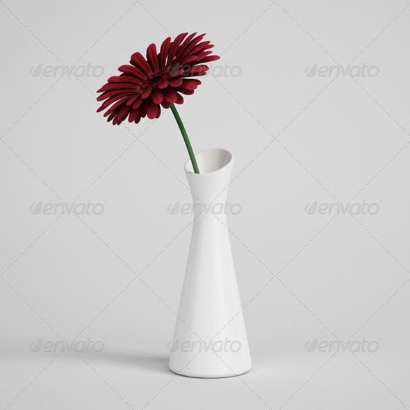 CGAxis Flower in Vase 01