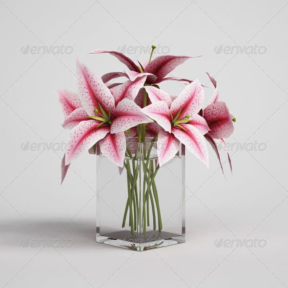 CGAxis Flowers in Vase 03