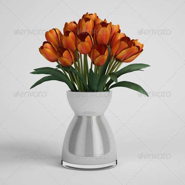 CGAxis Tulips in Vase 06