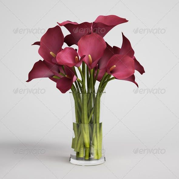 CGAxis Flowers in Vase 08
