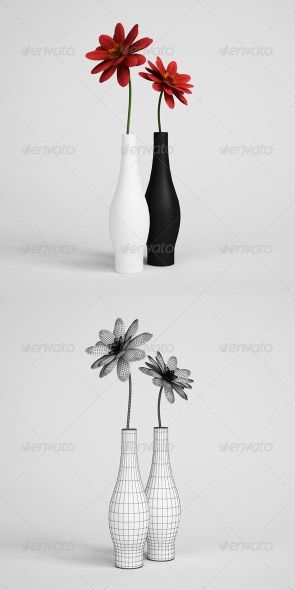 CGAxis Flowers in Vase 09 - 3DOcean Item for Sale