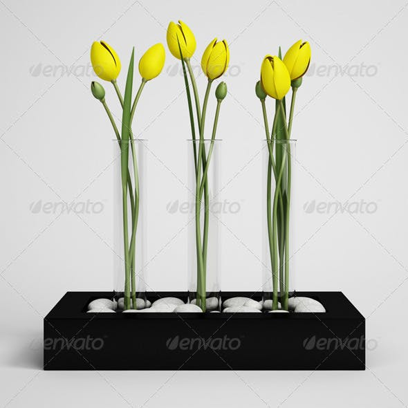CGAxis Tulips in Vase 11