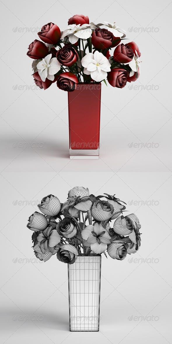 CGAxis Flowers in Vase 13 - 3DOcean Item for Sale
