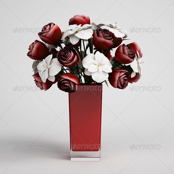 CGAxis Flowers in Vase 13