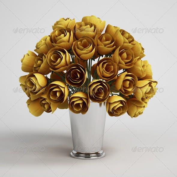 CGAxis Flower Bouquet in Vase 15