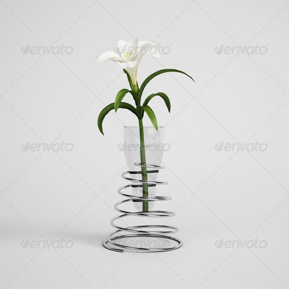 CGAxis Lily in Modern Vase 21