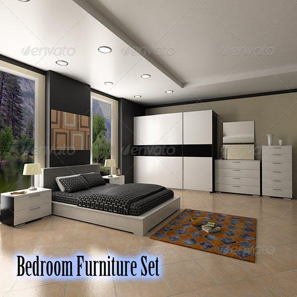 Bedroom furniture 4 Set - 3DOcean Item for Sale
