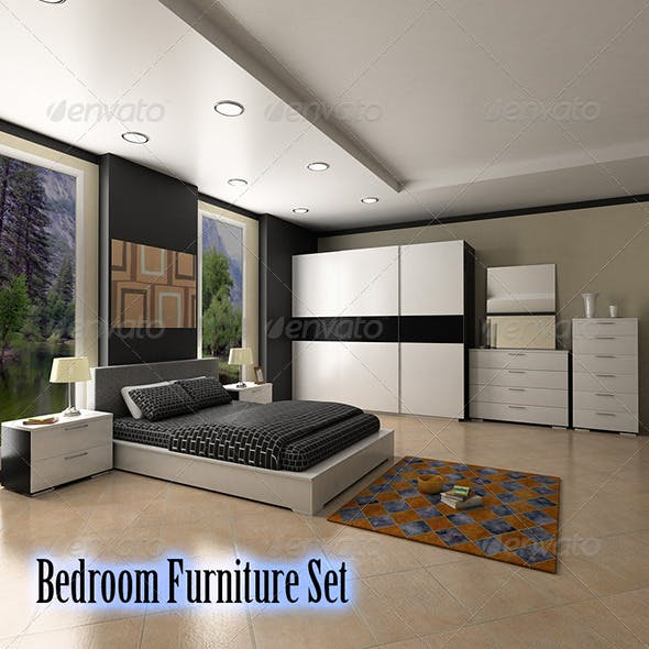 Bedroom furniture 4 Set