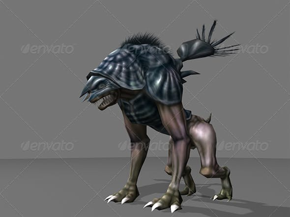 Animated Alien Quatruped Monster Lowpoly  - 3DOcean Item for Sale