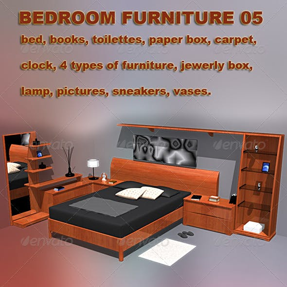 Bedroom furniture 05 - 3DOcean Item for Sale
