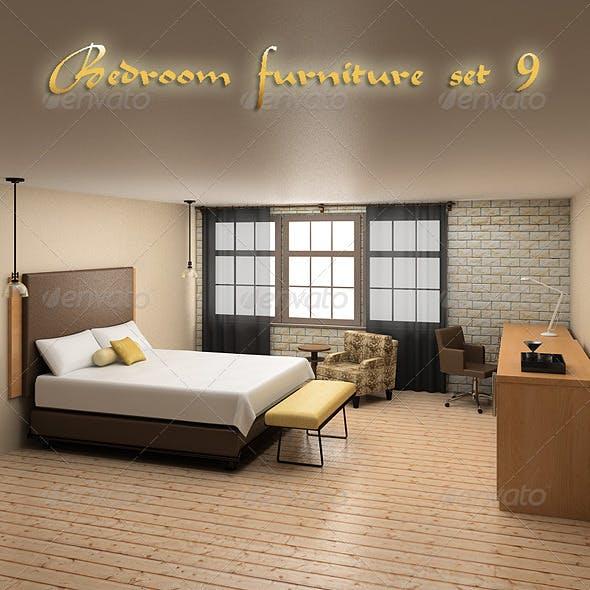 Bedroom Furniture 09 Set - 3DOcean Item for Sale