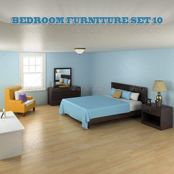 Bedroom Furniture Set 10 - 3DOcean Item for Sale