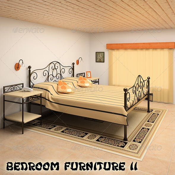 Bedroom Furniture Set 11 - 3DOcean Item for Sale