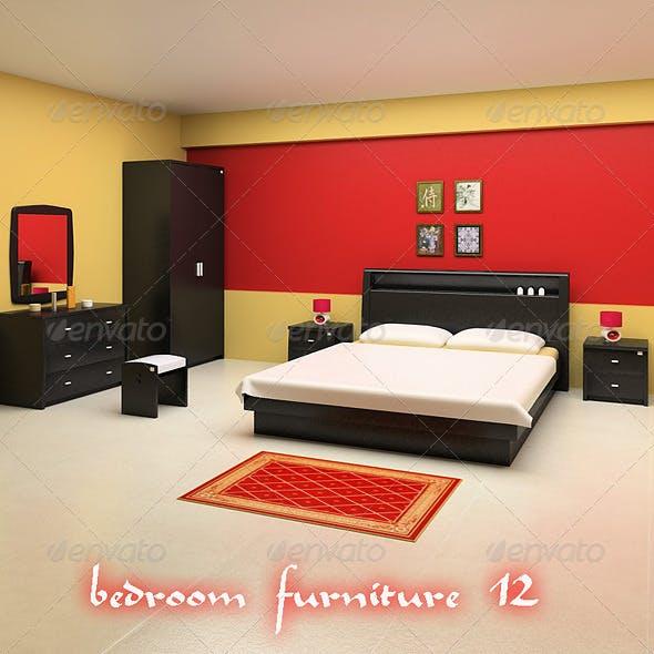Bedroom Furniture Set 12 - 3DOcean Item for Sale