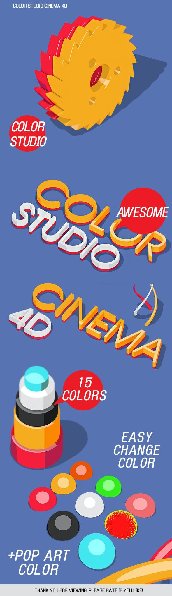 Color studio cinema 4D - 3DOcean Item for Sale
