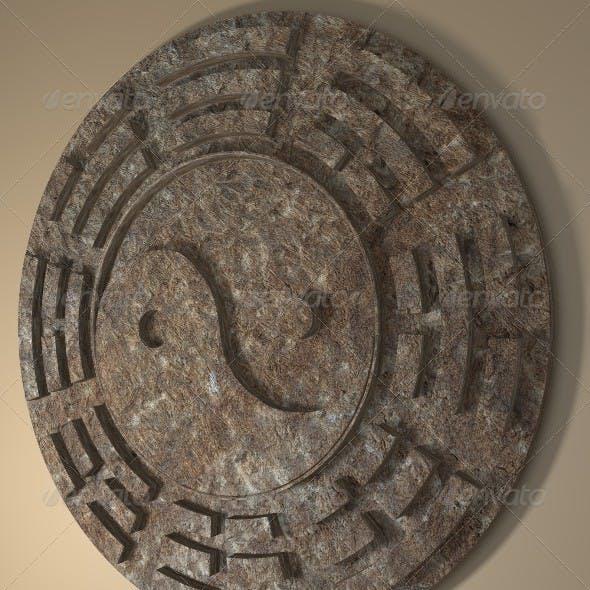 Yin Yang Sign 3D