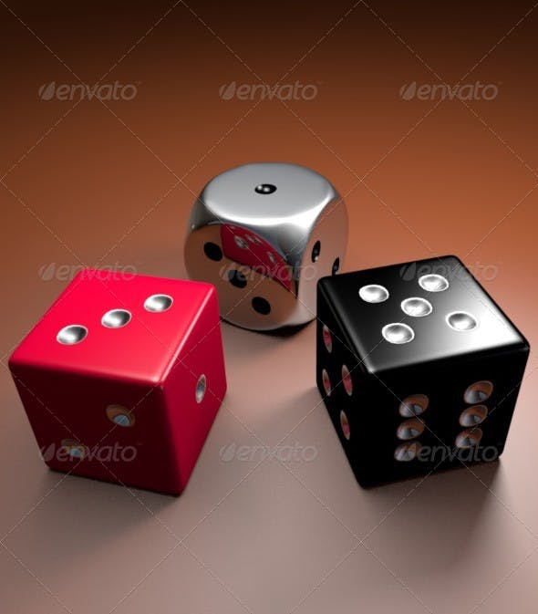 Dice 3D Models - 3DOcean Item for Sale