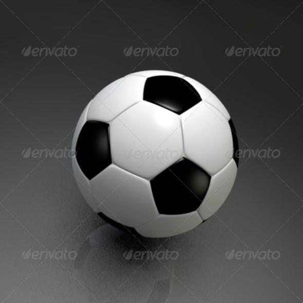 3D Model of Soccer Ball - 3DOcean Item for Sale