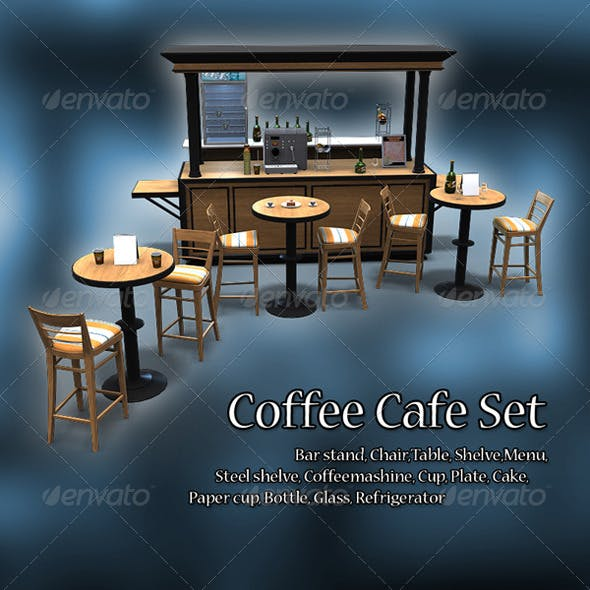 Coffee Cafe - 3DOcean Item for Sale
