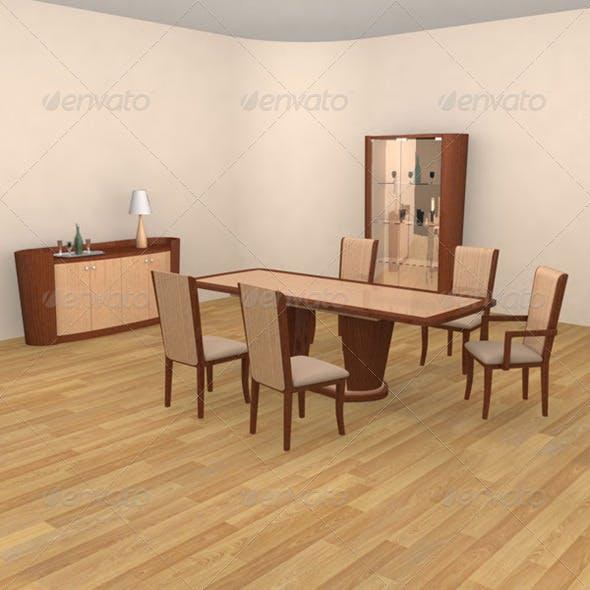 Dining Room Set 02 - 3DOcean Item for Sale