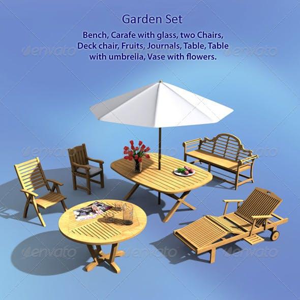 Garden Set - 3DOcean Item for Sale