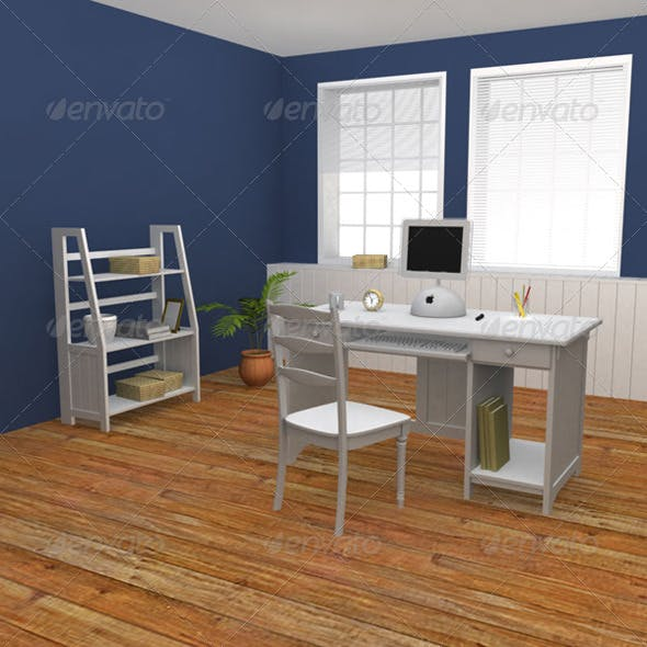 Home WorkPlace 01 - 3DOcean Item for Sale