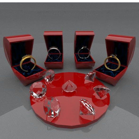 Seven diamonds SILVER & GOLD rings