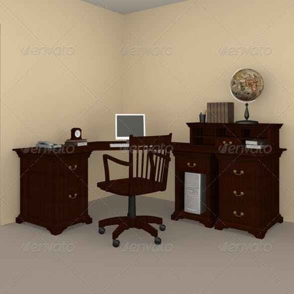 Home WorkPlace 03 - 3DOcean Item for Sale