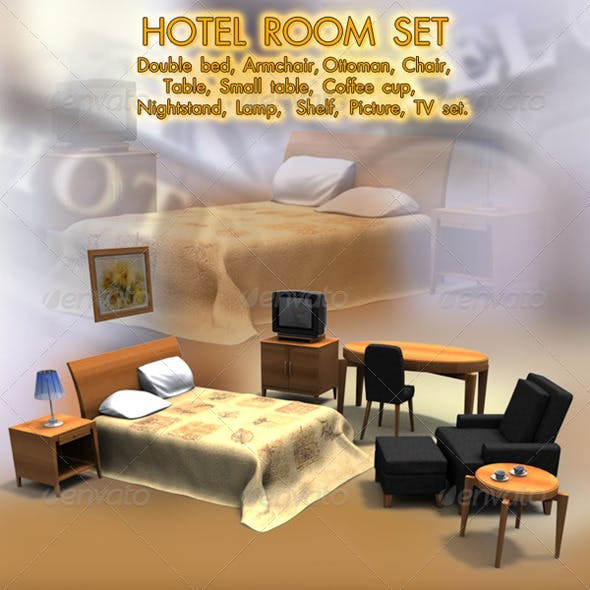Hotel Room 1 - 3DOcean Item for Sale