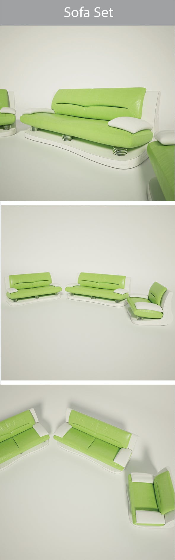 Sofa Set-02 - 3DOcean Item for Sale
