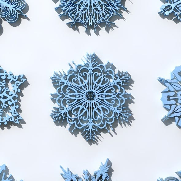 16 Snowflakes Christmas Ornament