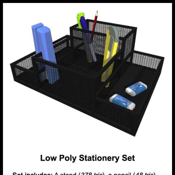 Low Poly Stationery Set