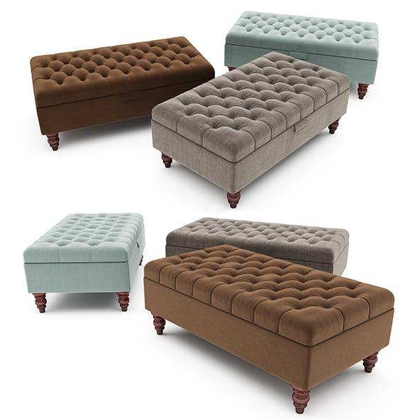 Tiffany Linen Footstool  ottoman - 3DOcean Item for Sale