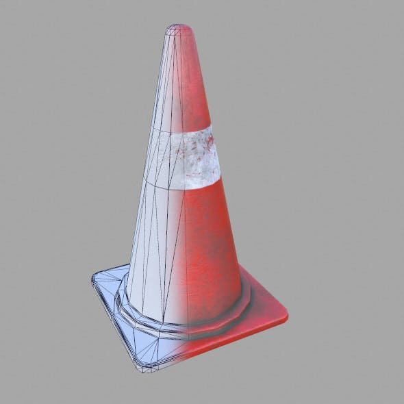 Low Poly Game Ready Street Cone